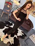 Стильное женское платье  сетка с напылением из бархата, фото 3