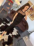 Стильное женское платье  сетка с напылением из бархата, фото 4