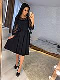 Стильное повседневное женское платье из креп дайвинга, фото 2