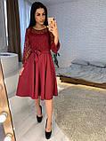 Стильное повседневное женское платье из креп дайвинга, фото 3