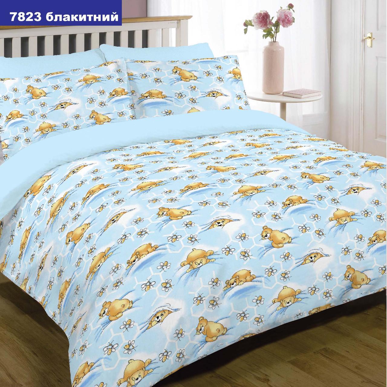 Комплект постельного белья детский ранфорс 7823 голубой ТМ Вилюта