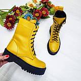 Женские демисезонные ботинки на молнии со шнуровкой, фото 3