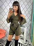 Женский стильный комбез шортами Даяна, фото 3
