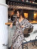 Женское красивое стильное нереальное платье в листьях, фото 2