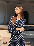 Женское красивое стильное  платье Виола в горох, фото 2