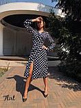 Женское красивое стильное  платье Виола в горох, фото 4