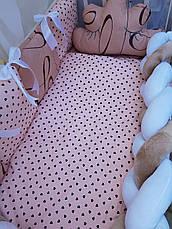 Комплект в детскую кроватку Косичка 008, фото 2