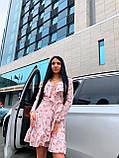 Модное платье с запахом с цветочным принтом, фото 2