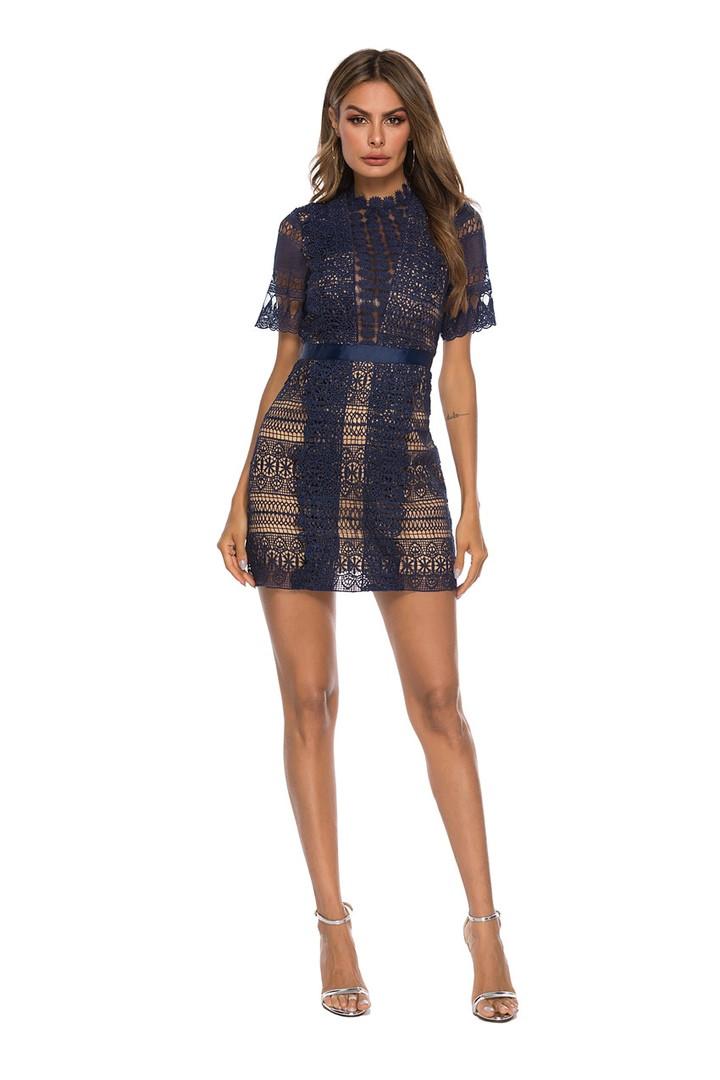 Женское нежное кружевное стильное платье