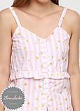 Жіноча бавовняна піжама з шортами, фото 4