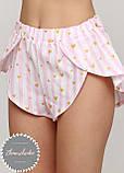Жіноча бавовняна піжама з шортами, фото 5