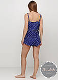 Женская хлопковая пижама с шортами, фото 2