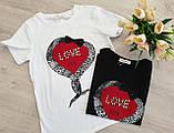 Жіноча стильна футболка з написами Love, фото 4