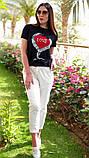 Жіноча стильна футболка з написами Love, фото 5