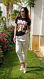 Женская стильная  футболка Котик, фото 4