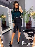 Модный костюм: шелковая блузка + юбка карандаш, фото 3