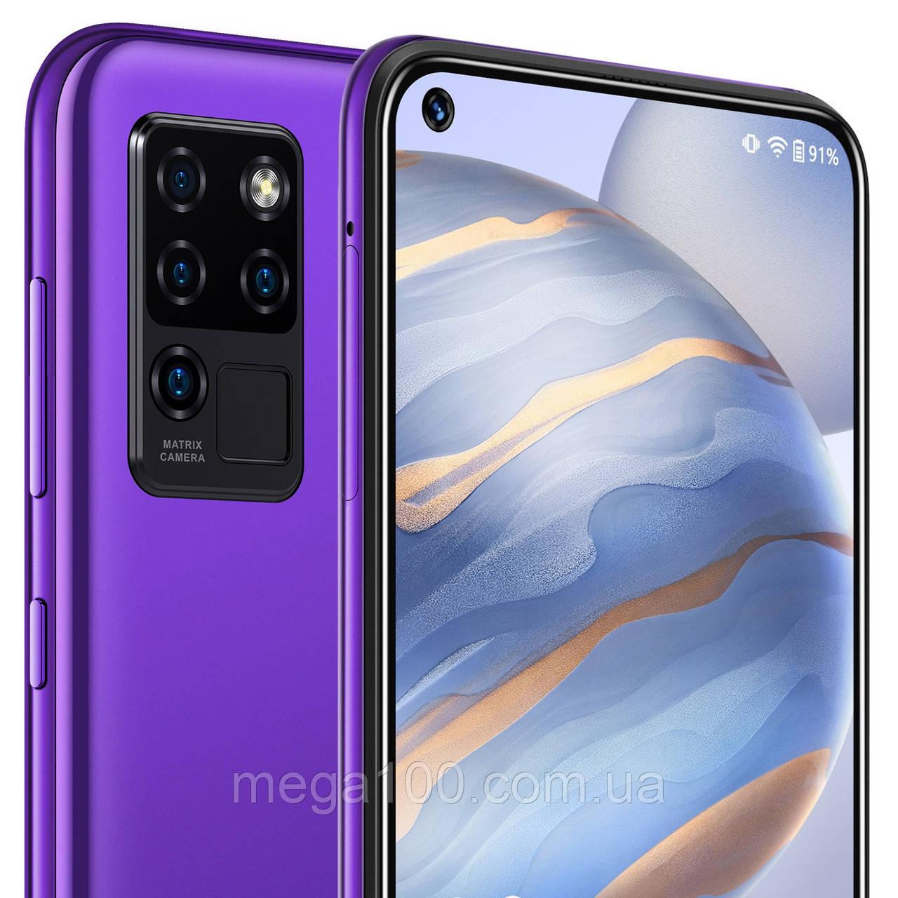 Смартфон oukitel c21 фиолетовый цвет (экран 6,4, памяти 4/64, емкость батареи 4000 мАч)