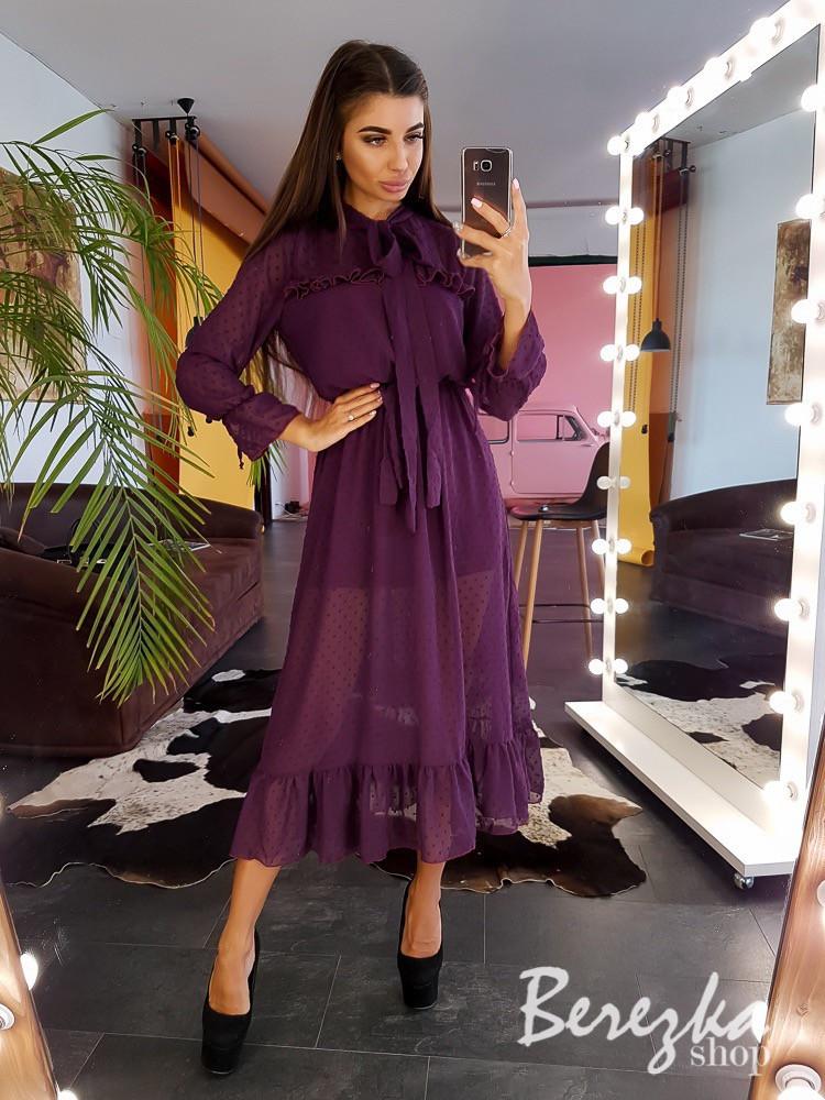 Платье из сетки добби