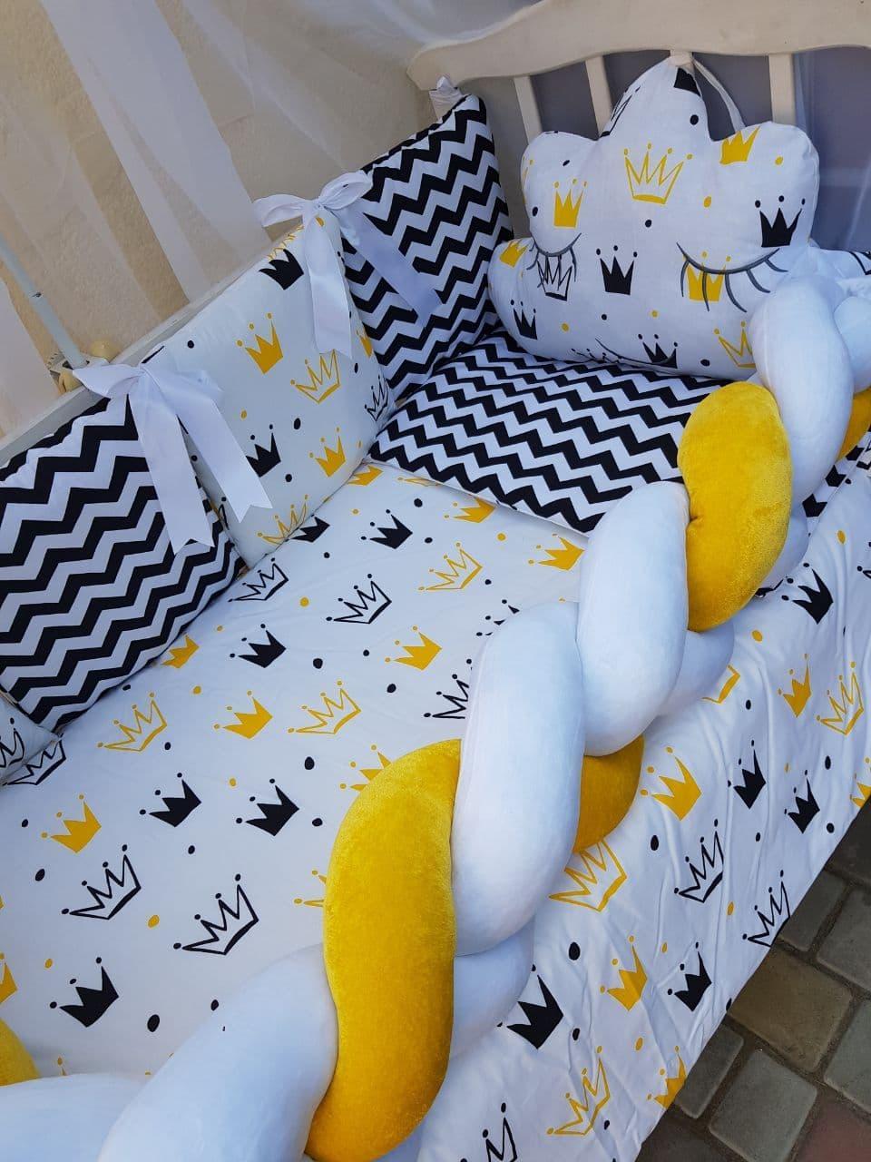 Комплект в детскую кроватку Косичка 00013