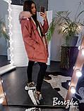 Тёплая замшевая куртка на меху с капюшоном, фото 2