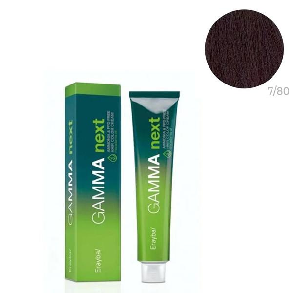 Безаммиачная крем-краска для волос Erayba Gamma Neхt 7/80 Фиолетово-русый 100 мл