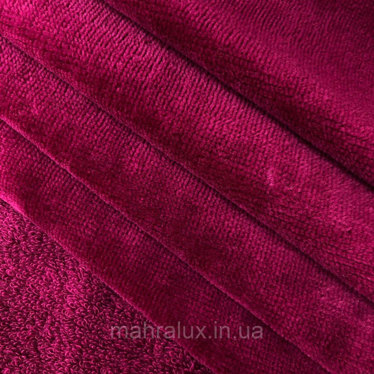 Махра велюр вишнёвое бордо повышенной плотности 500 г/м2