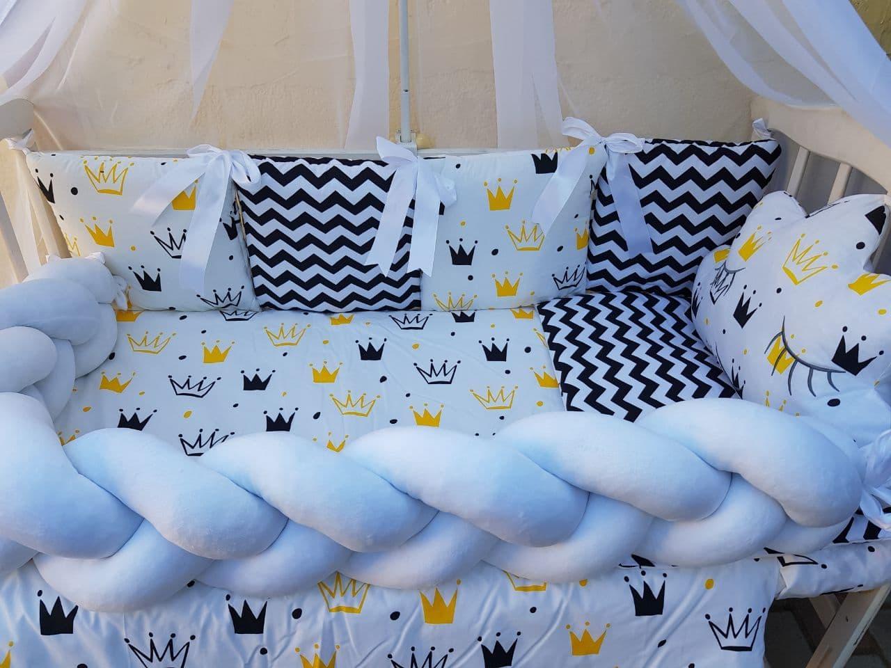 Комплект в детскую кроватку Косичка 00014