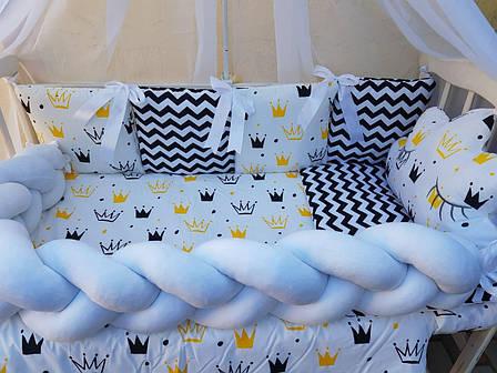 Комплект в детскую кроватку Косичка 00014, фото 2