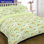Комплект постельного белья детский ранфорс 7823 зеленый ТМ Вилюта