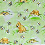 Комплект постельного белья детский ранфорс 7823 зеленый ТМ Вилюта, фото 4