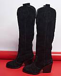 Стильные женские кожаные сапоги, фото 3