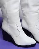 Стильные женские кожаные сапоги, фото 6