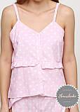 Женская хлопковая пижама с шортами, фото 4