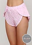 Женская хлопковая пижама с шортами, фото 5