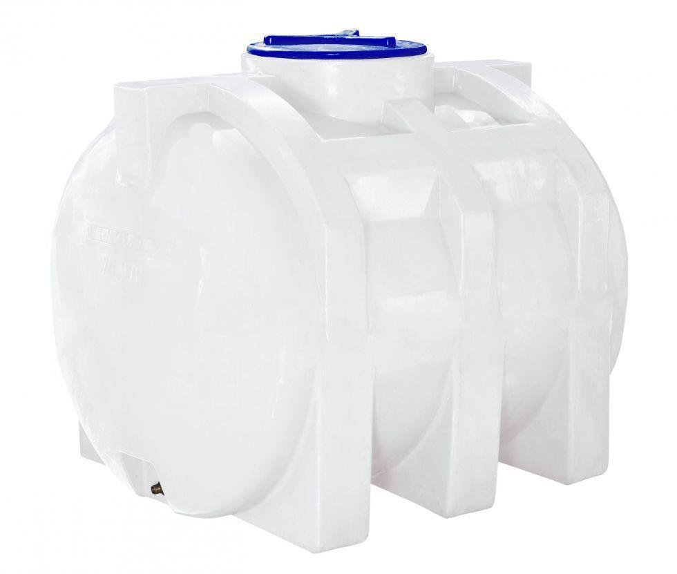 Емкость 750 литров бак, бочка усиленная для транспортировки пищевая горизонтальная 700 800
