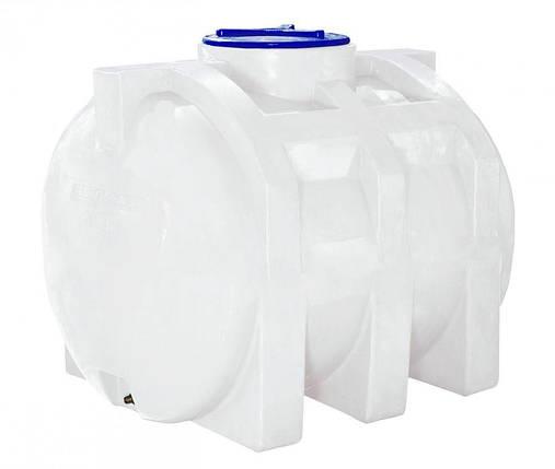 Емкость 750 литров бак, бочка усиленная для транспортировки пищевая горизонтальная 700 800, фото 2