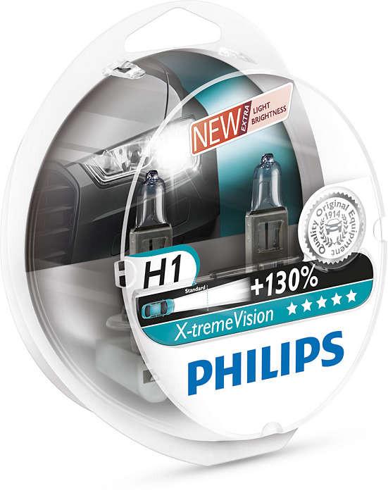 Philips H1 12258XV+S2 X-treme Vision +130%