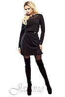 Короткое черное платье Фарина 42-50 размеры Jadone