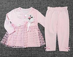 """НЕДОРОГО очень нежный нарядный костюм для новорожденной девочки """"Розочки"""" р. 68 (на 6 мес.)  100% хлопок"""