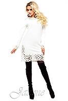 Короткое белое платье Фарина 42-50 размеры Jadone