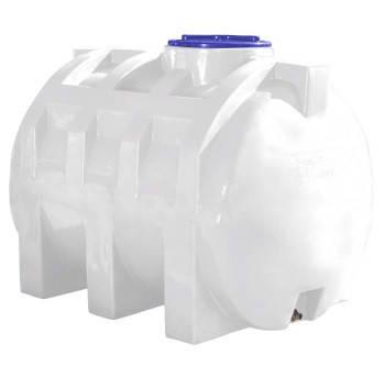 Емкость 1000 литров бак, бочка усиленная для транспортировки пищевая горизонтальная RGО, фото 2