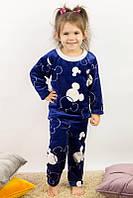 Пижама для девочек махровая, фото 1