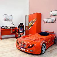 Детская кровать-машина Форсаж Красная