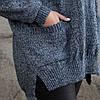 Вязаный трехцветный свитер 46-52 размер, фото 8