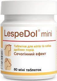 Леспедол Мини Долфос витаминная добавка при лечении мочевыводящих путей кошек и мелких собак, 60 мини таблеток