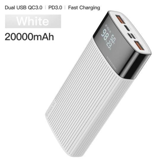 Портативний зарядний пристрій KUULAA WHITE PowerBank 20000 маг QC PD 3.0 18Вт