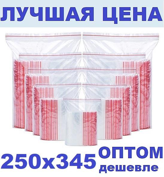Зип пакеты 250х345мм за 100 штук  Zip Lock / пакет с замком