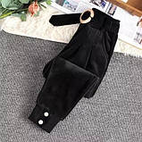 Штаны женские вельветовые бежевый, чёрный, графит 40-42,44-46, фото 2