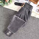 Штаны женские вельветовые бежевый, чёрный, графит 40-42,44-46, фото 5