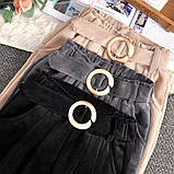 Штаны женские вельветовые бежевый, чёрный, графит 40-42,44-46, фото 4